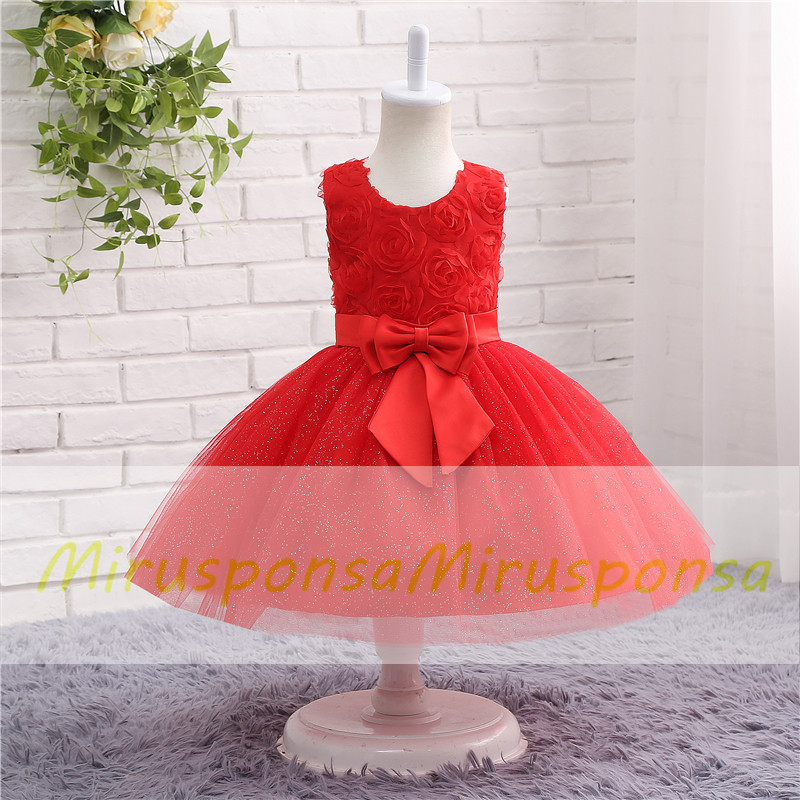 613447d808ff6 Mirusponsa Real Image Sleeveless Birthday Gown For 7 Years Old, Pitufos,  Vestidos Daminhas, Girls Short Pageant Dresses, Comunion Decoracion, ...