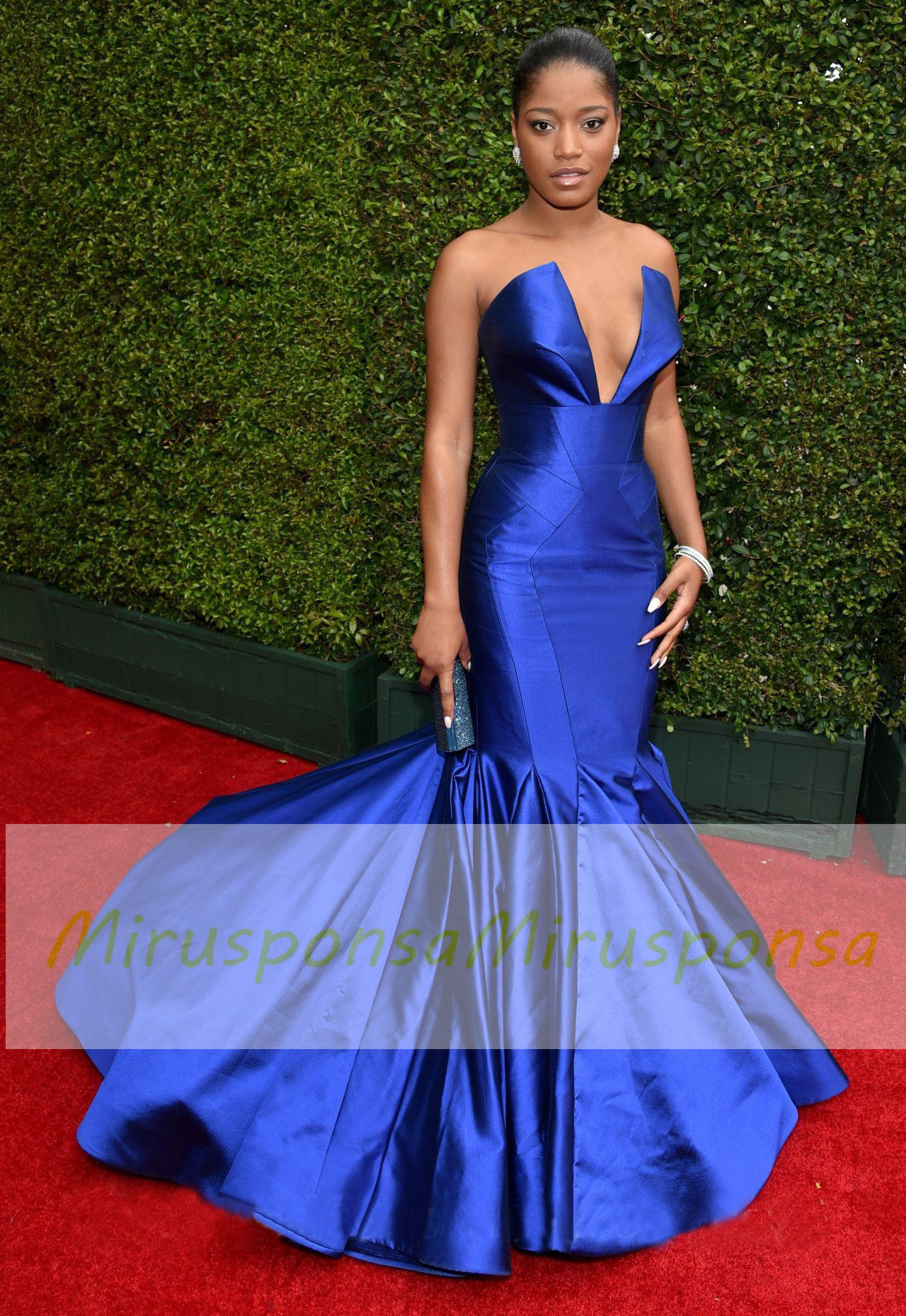 Mirusponsa Red Carpet Dresses Wedding Guest Dress Royal Blue