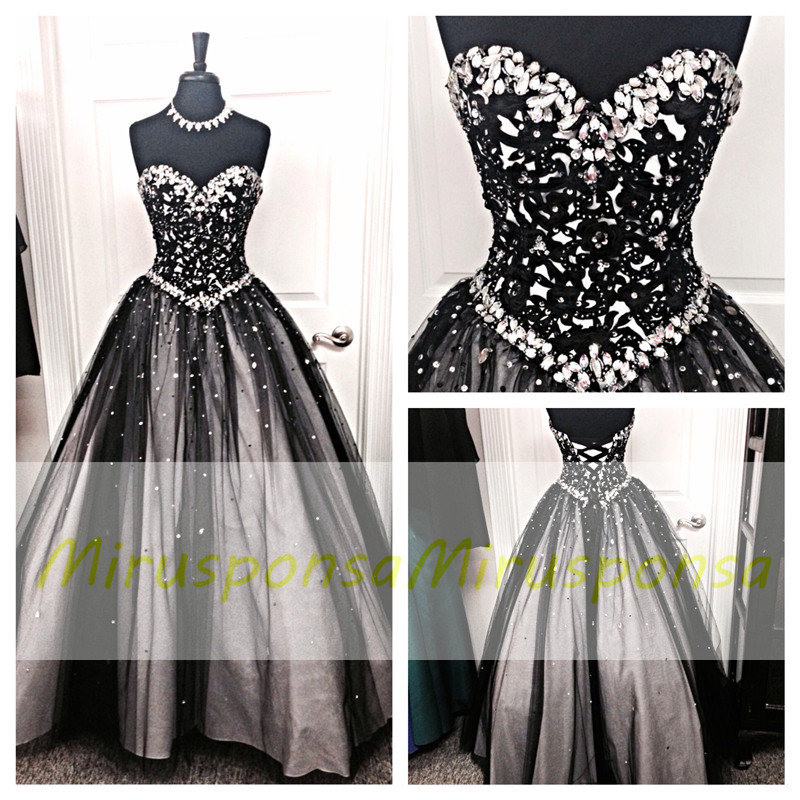 Mirusponsa Black And White Prom Dresses Sequin Dress Dress With