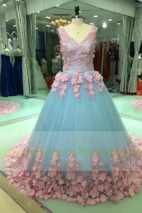 New Arrivals Floral Boho Wedding Dress Brautkleid Wedding Gowns Flowers Appliqued Bride Dress