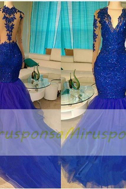 Mirusponsa royal blue evening dress, gala dress, robe sirene, long sleeve evening dress, sexy long evening dress, gala jurken, special occasion gown, party dresses 2017, prom dresses long, long sexy evening gowns, engagement dresses, evening dress long sleeve, moroccan clothing